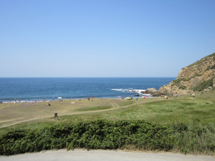 azkorri beach strand vlakbij Bilbao