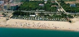 camping aan het strand pineda de mar strandvakantie spanje