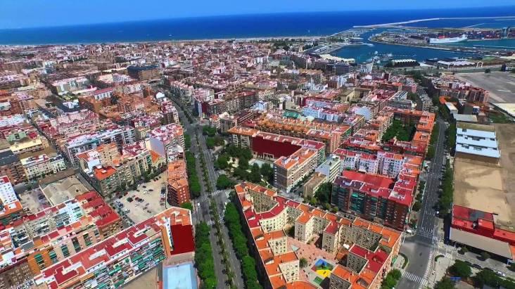 drone foto valencia stad citytrip inclusief strand 1