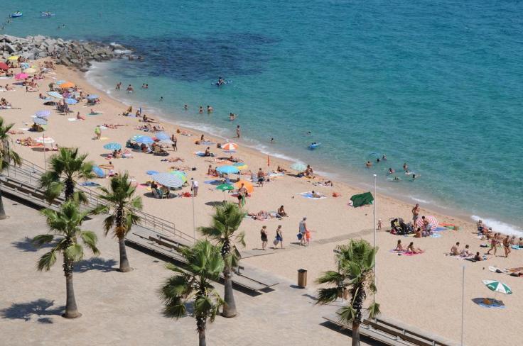 strand blanes spanje costa brava vakantie 002