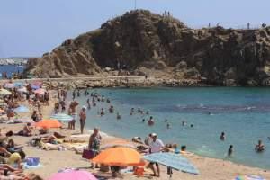 strand blanes spanje costa brava vakantie 003