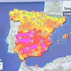 weerkaart Spanje nieuws