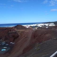 El Golfo groen meer aan zee - Lanzarote