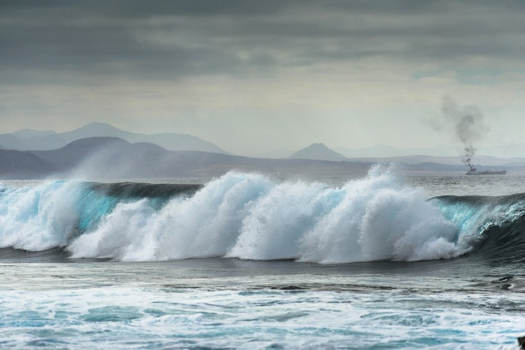 spanje stranden golven